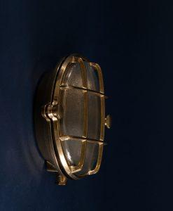 Bulkhead Light Mark Brass industrial bathroom lighting