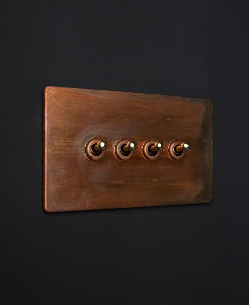 copper & gold quad toggle