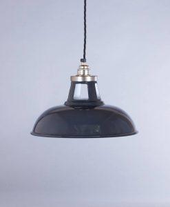 industrial lamp shade grey farsley