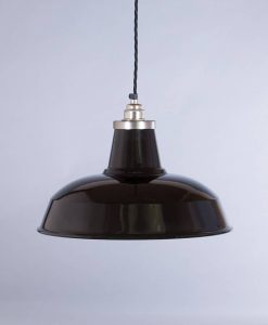 industrial lamp shade black burley