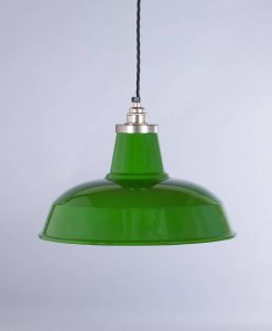 industrial lamp shade green burley