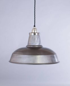 industrial lamp shade raw steel burley