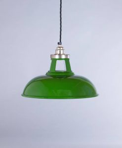 industrial lamp shade green farsley