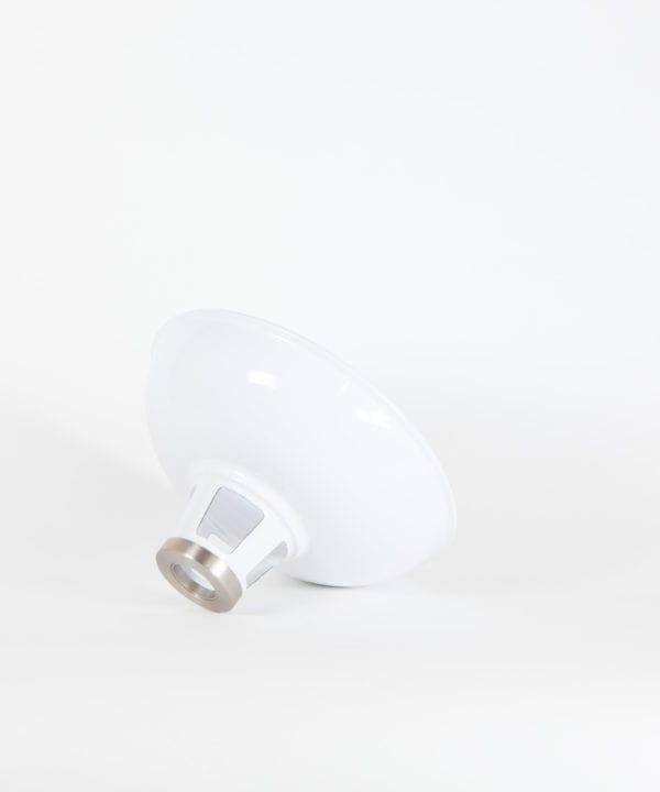 farsley white enamel lamp shade on white background