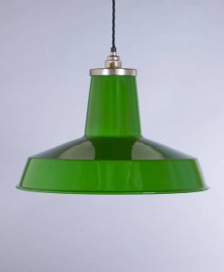 industrial lamp shade green linton
