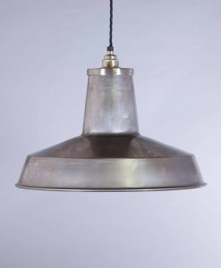 industrial lamp shade raw steel linton