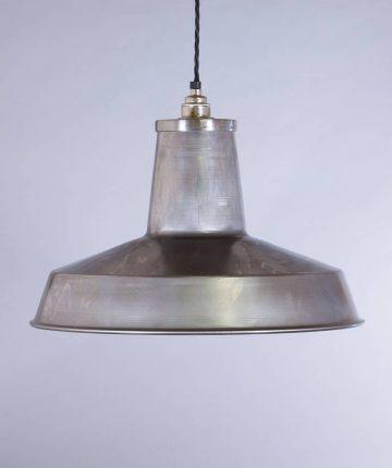 industrial lamp shade raw steel linton