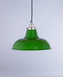 industrial lamp shade green Morley