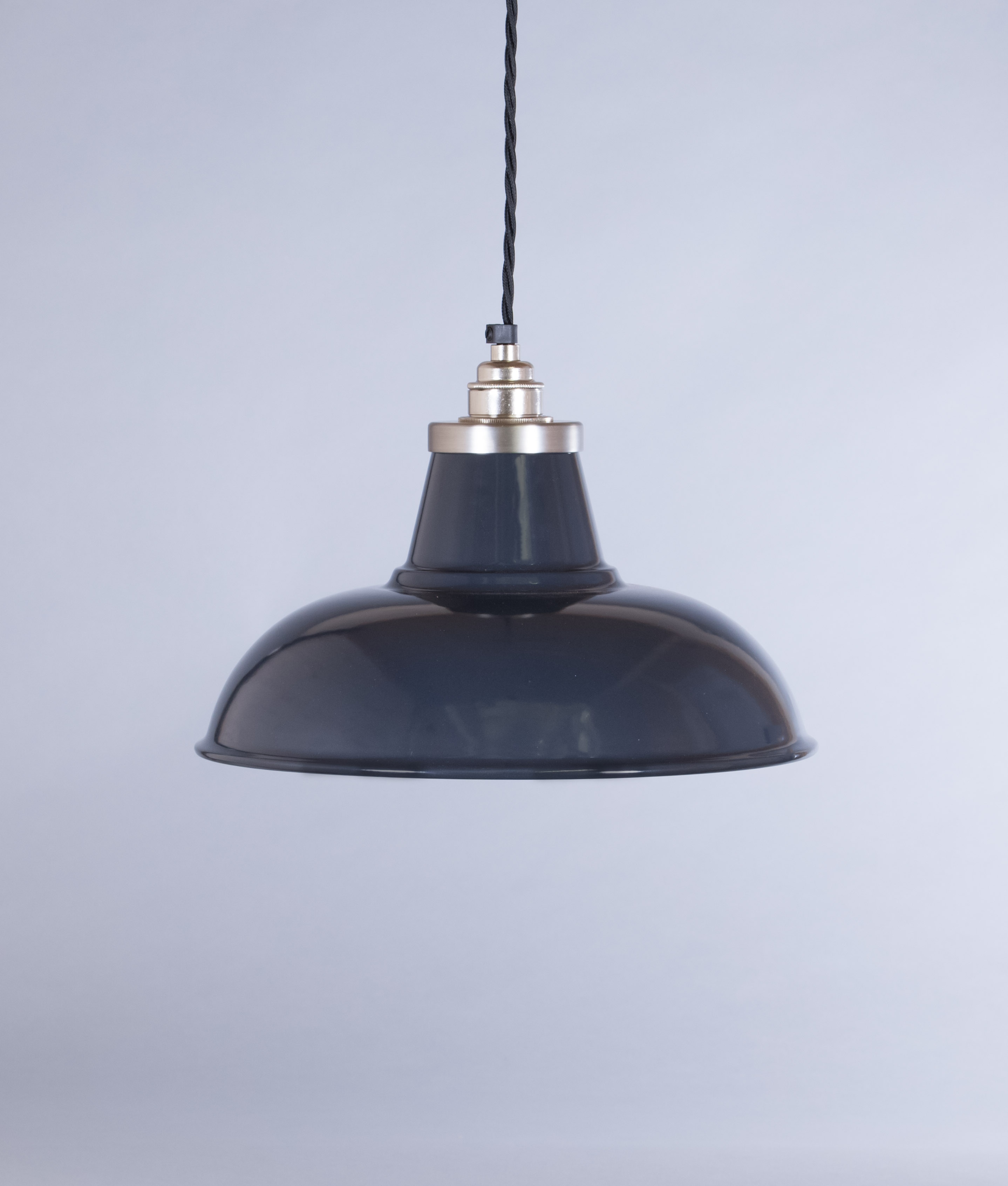 Grey Enamel Pendant Light Shade Morley Industrial Style