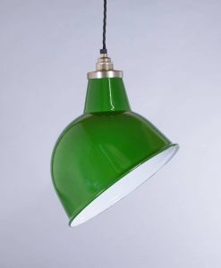 industrial lamp shade green oulton