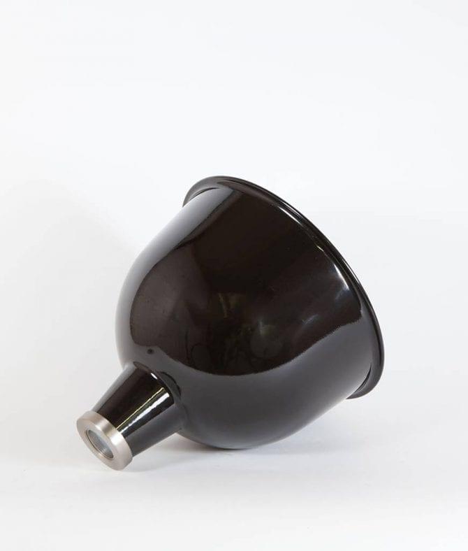 black stourton enamel lamp shade on white background