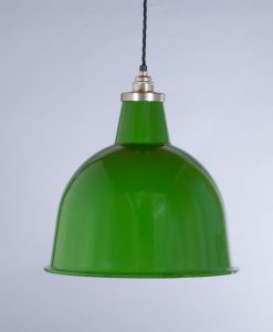 industrial lamp shade green stourton