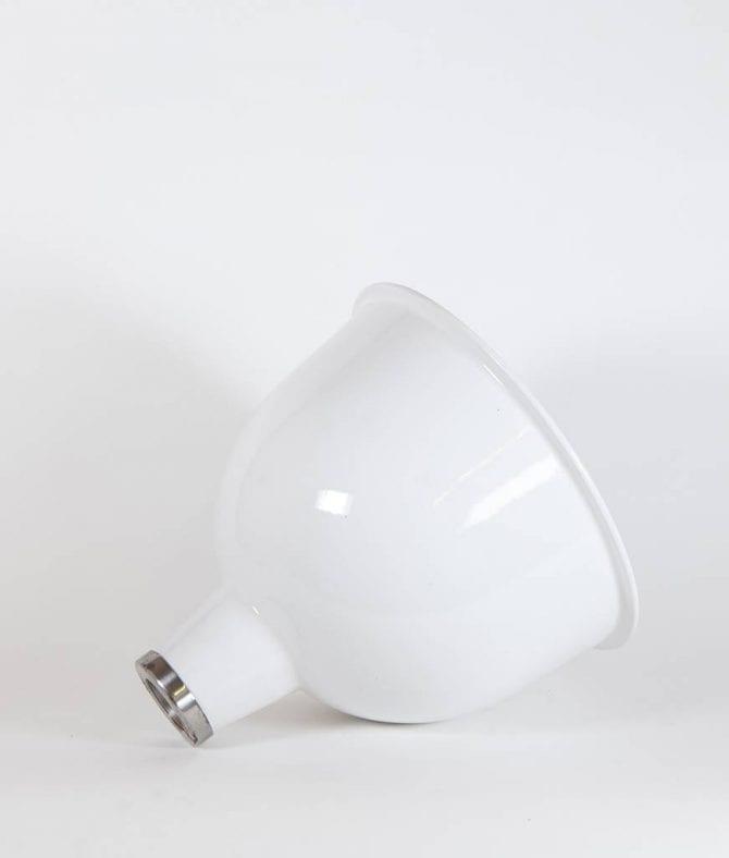 stourton white enamel lamp shade on white background