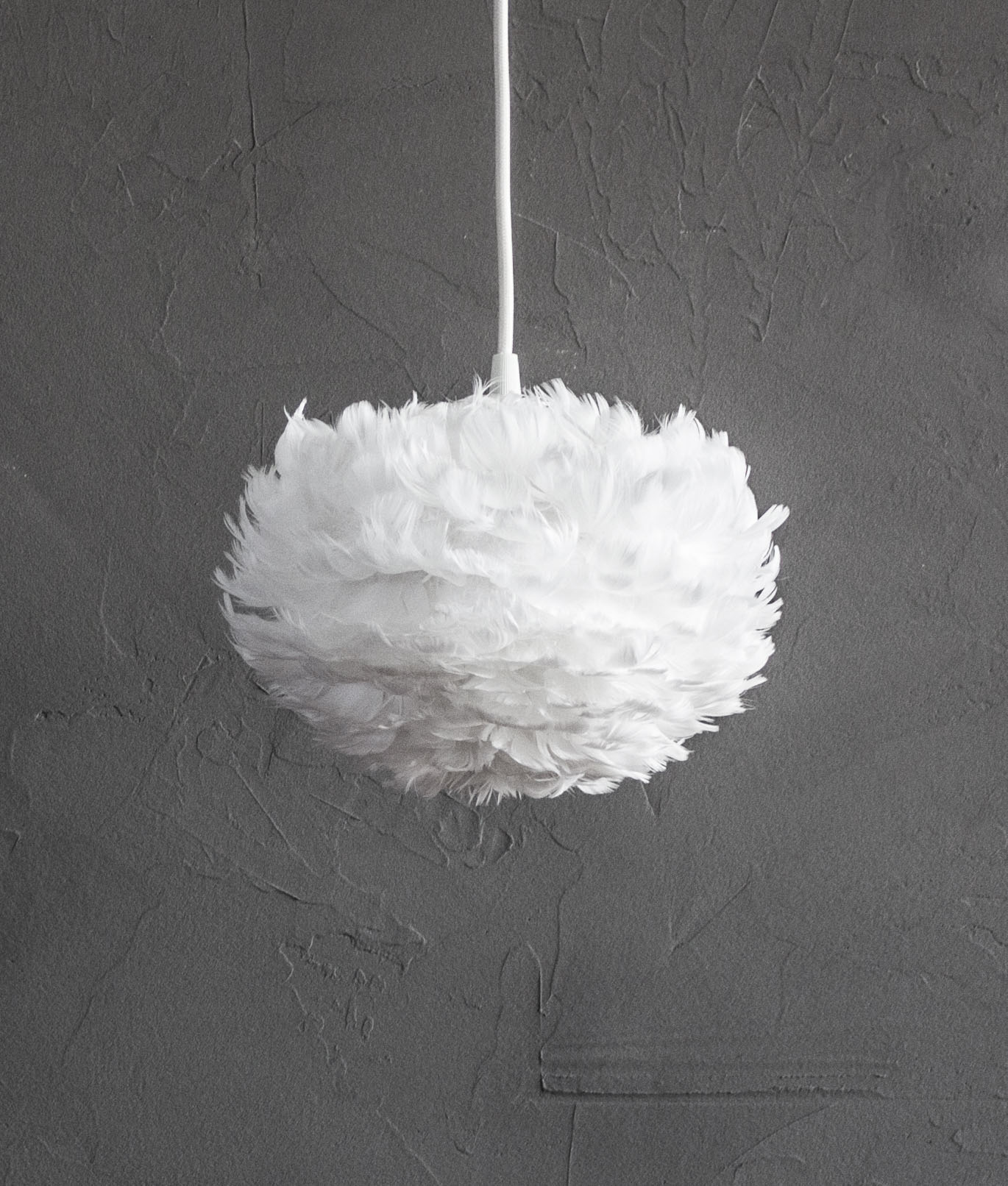 Vita feather pendant light available in two colours medium aloadofball Image collections