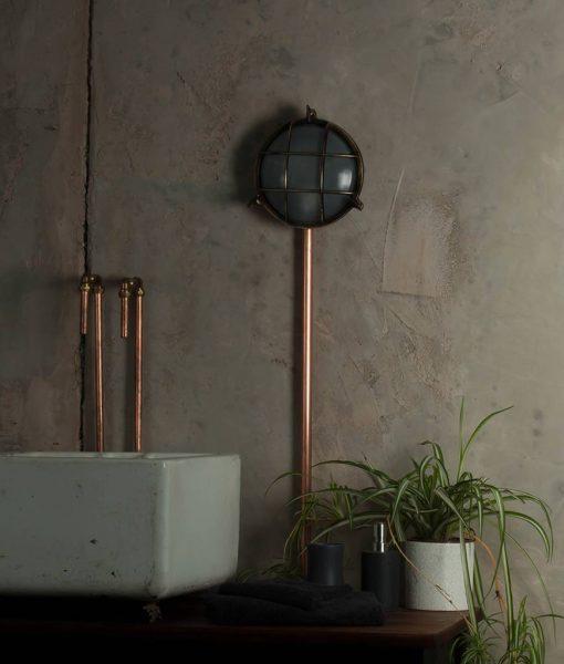 industrial bathroom lighting chris pewter