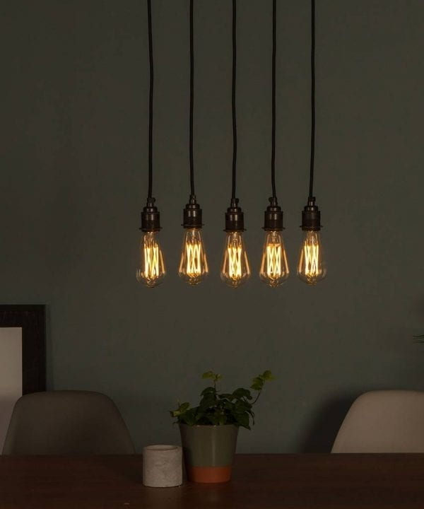 LED squirrel cage filament large bulb warm glow
