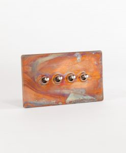 toggle light switch 4 toggle copper & silver