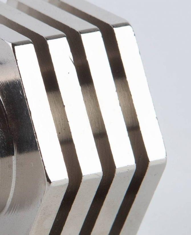 deco silver closeup