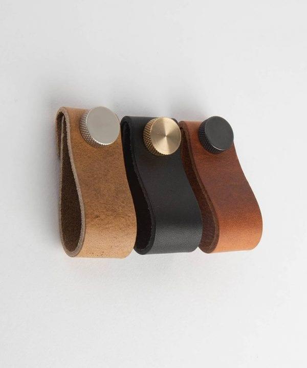 MAGNI small leather kitchen door handles