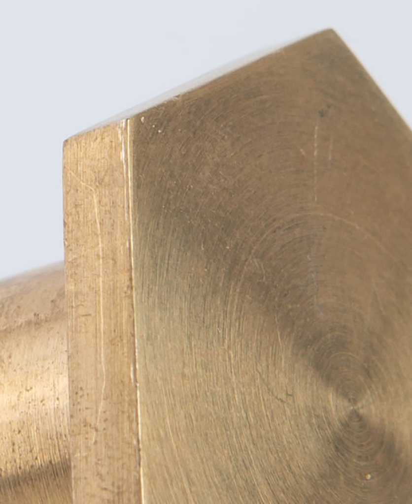 bauhaus brass closeup