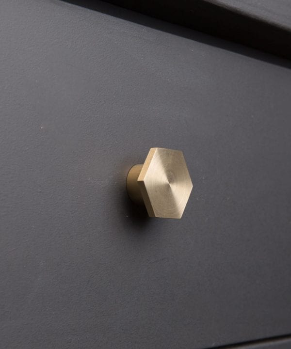 BAUHAUS kitchen drawer knobs brass