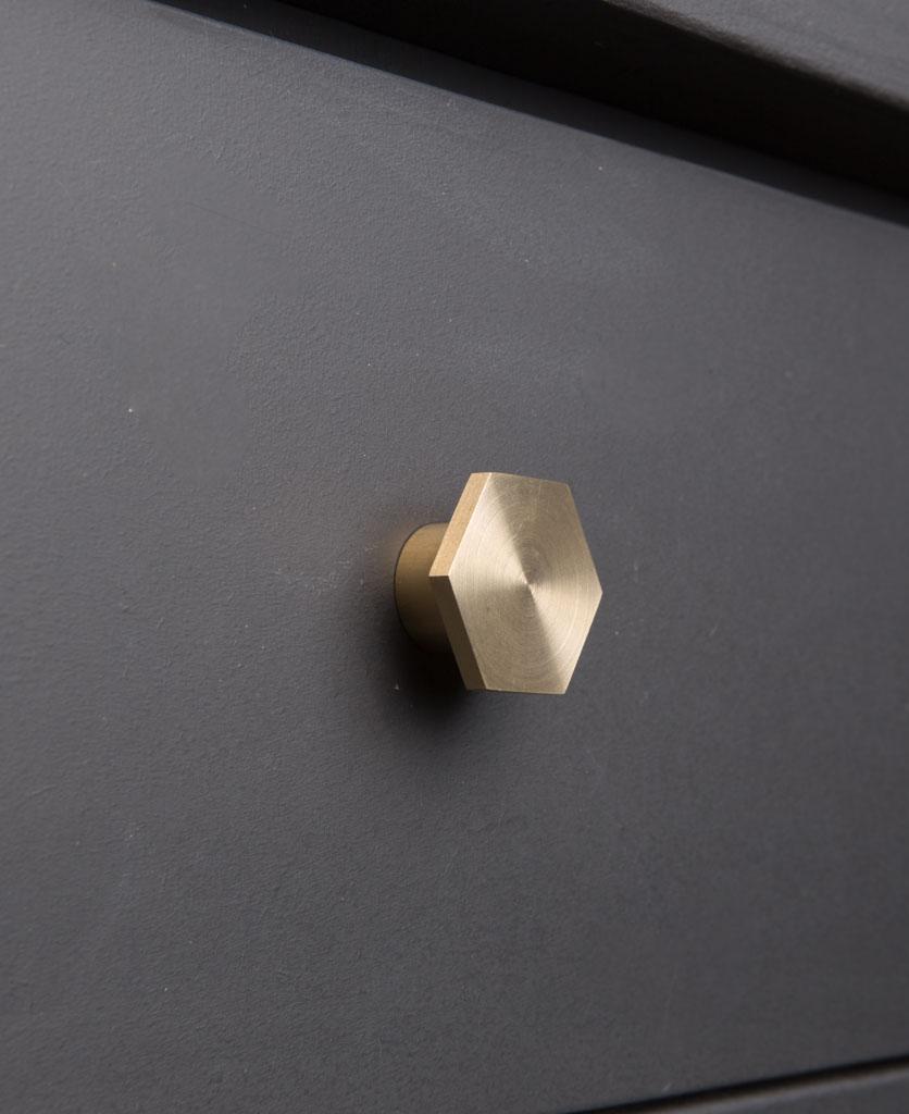 BAUHAUS kitchen drawer knobs brass