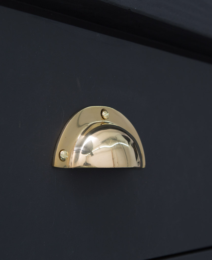 Brass drawer pull handle