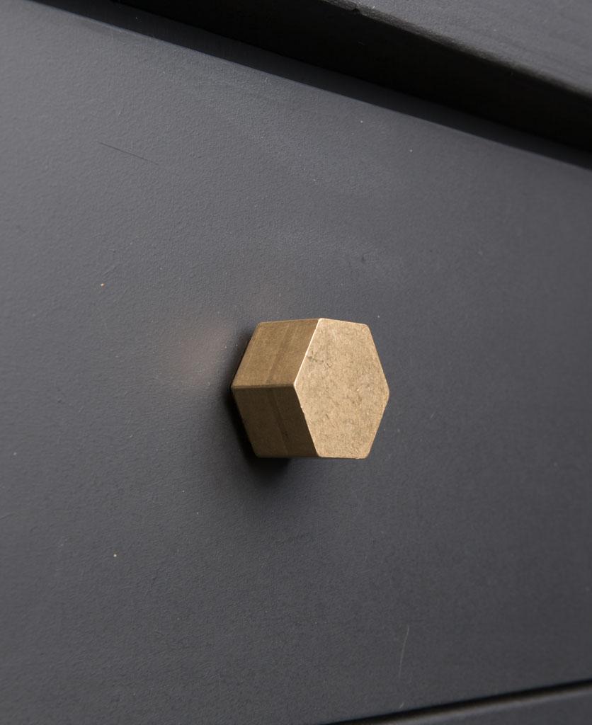 CUBIST kitchen drawer knobs brass