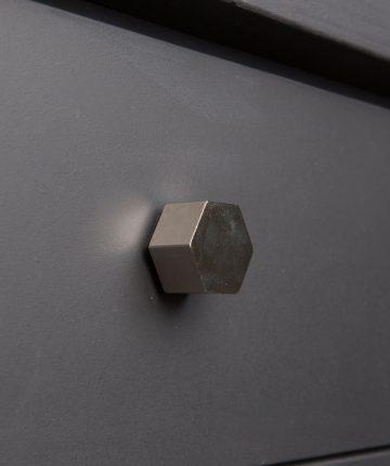 CUBIST kitchen drawer knobs silver