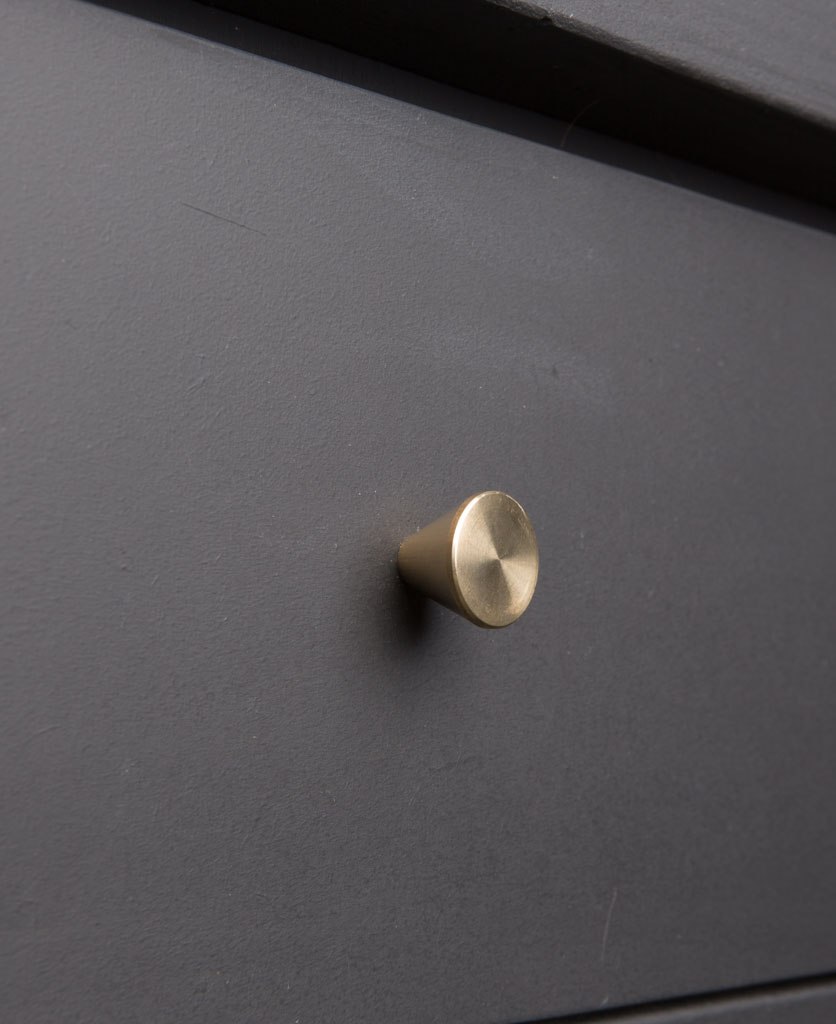 FUTURIST kitchen brass drawer knobs - solid brass knobs