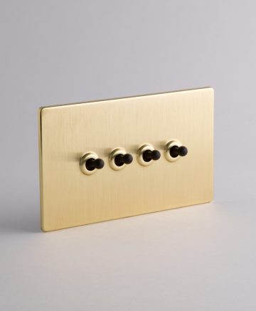 toggle light switch 4 toggle gold & black