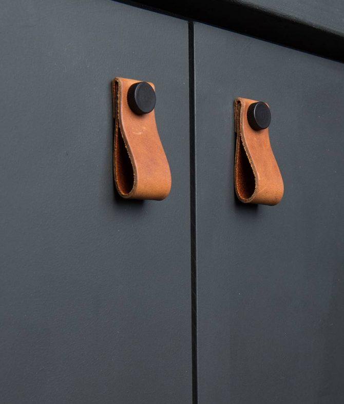 kitchen door handle magni chestnut & black