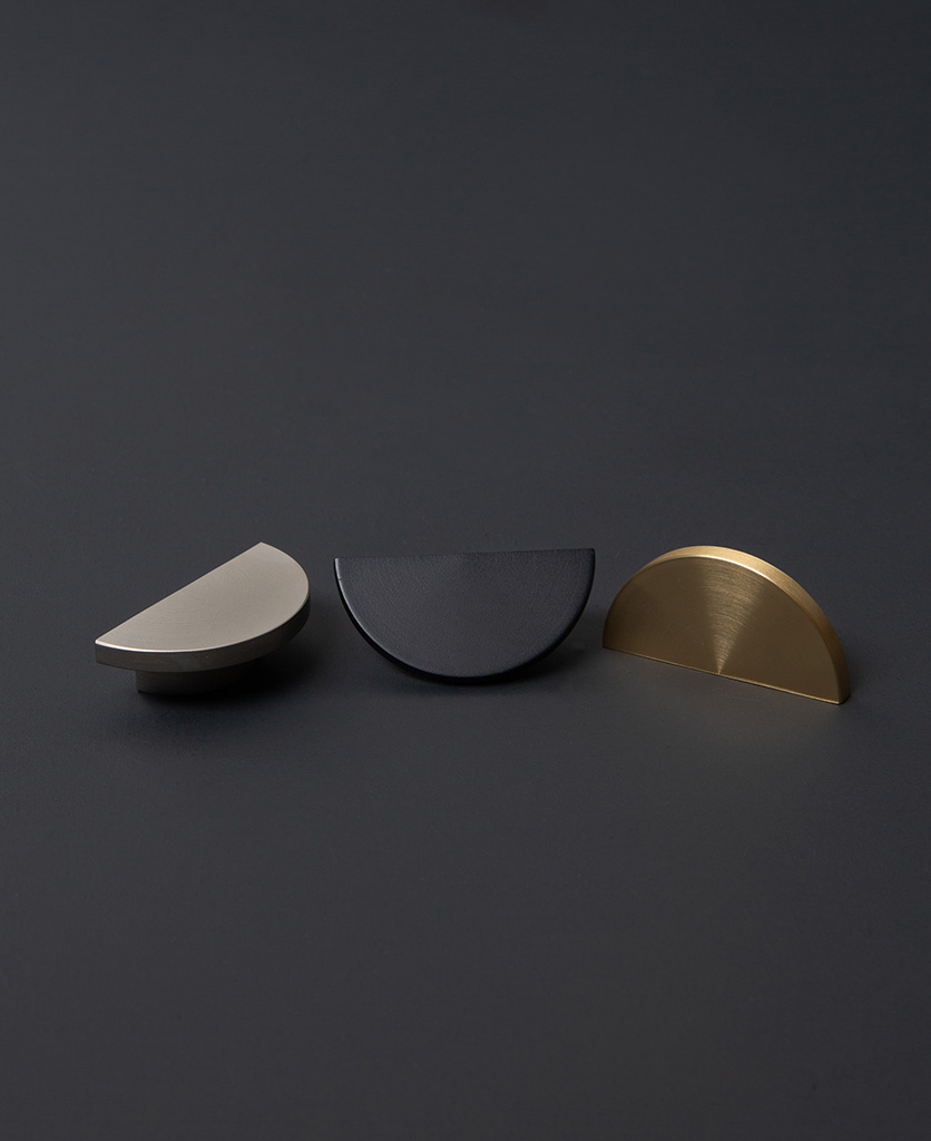drawer pulls and knobs in black silver and brass