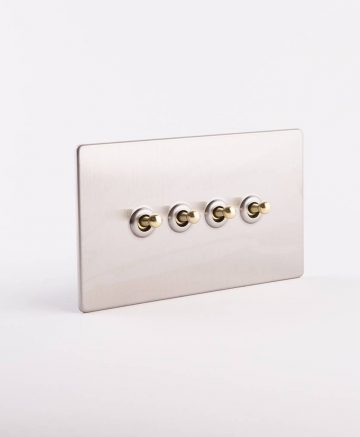 toggle light switch 4 toggle silver & gold