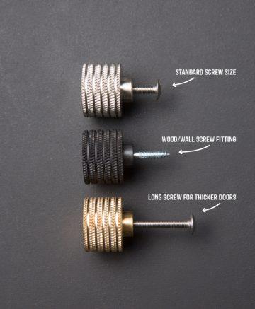screw sizes for kitchen door handles
