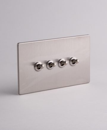 toggle light switch 4 toggle silver
