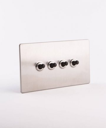 toggle light switch 4 toggle silver & black