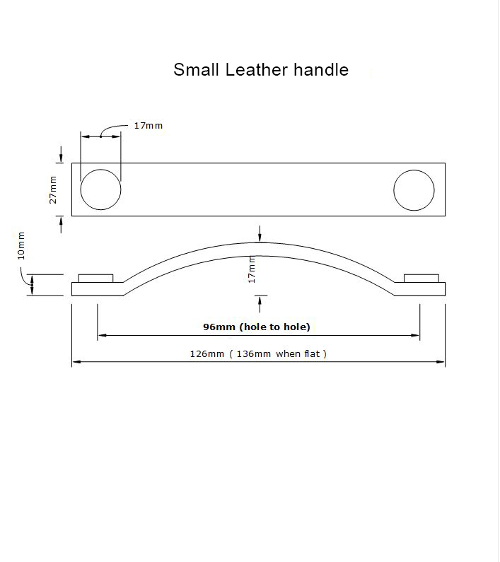 dimensions of thor small leather handle