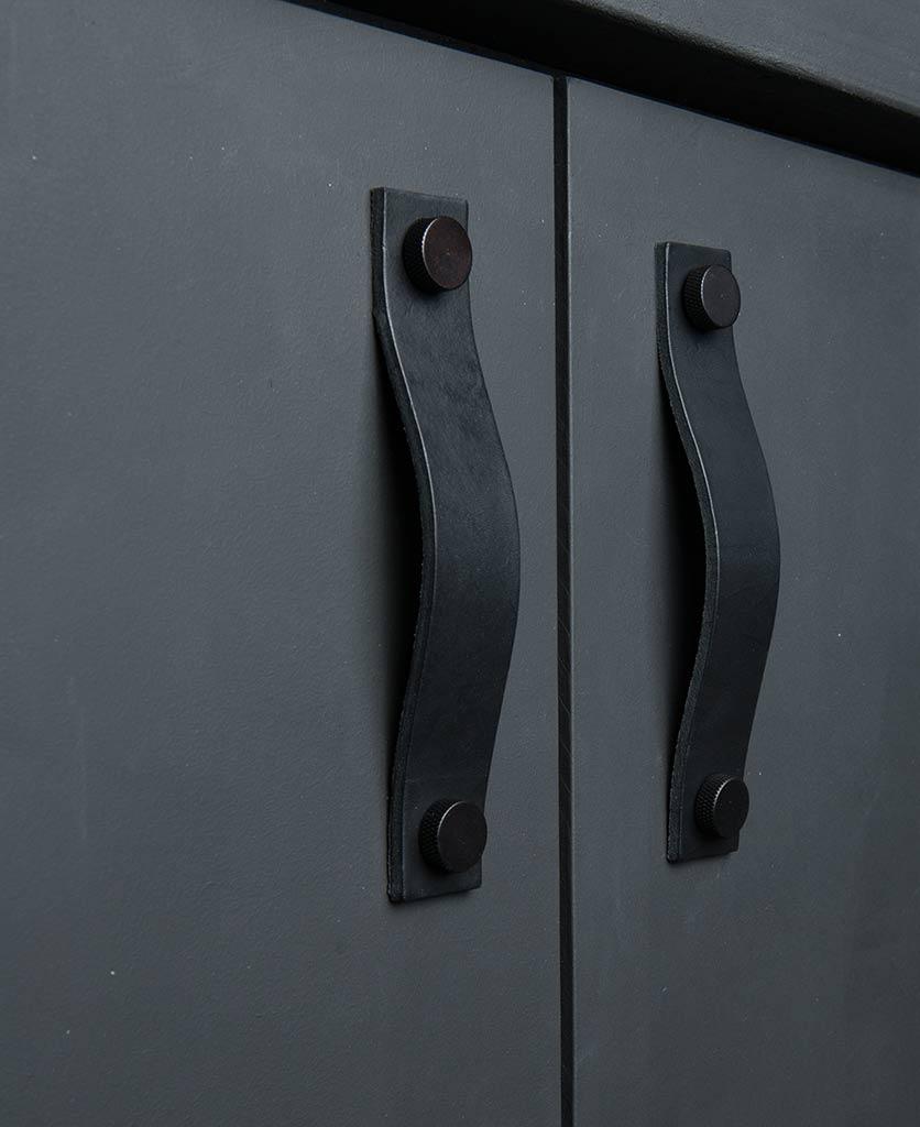kitchen door handle thor black & black