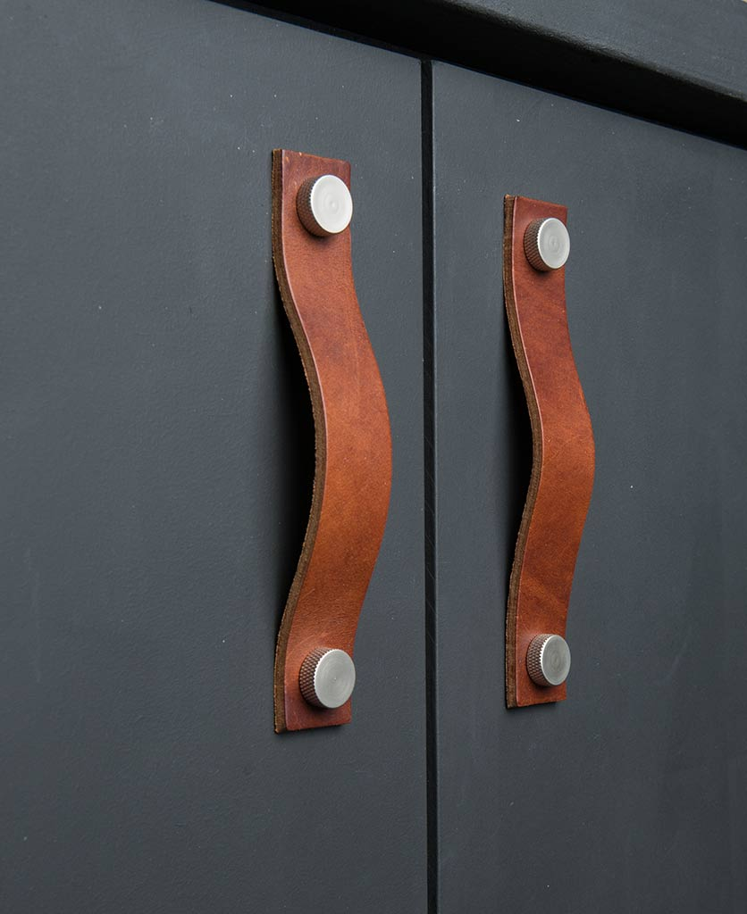 Thor Leather Kitchen Door Handle Available In Three Colours