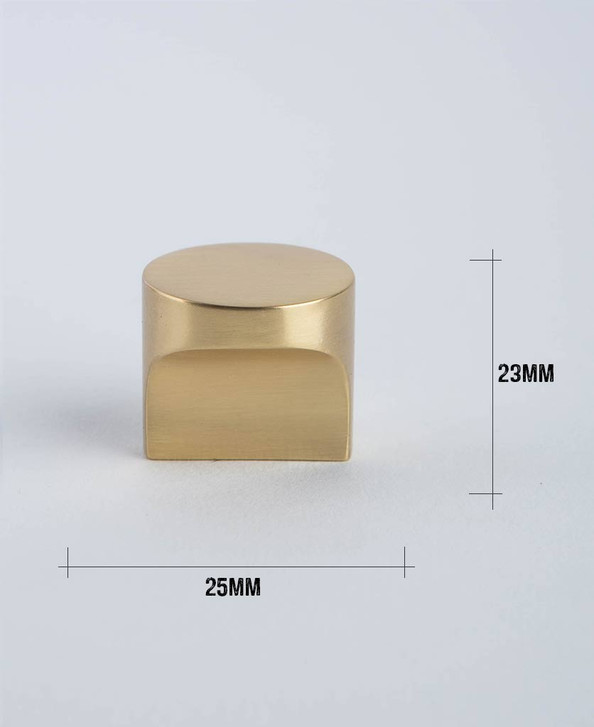 abstract brass with dimensions against white background