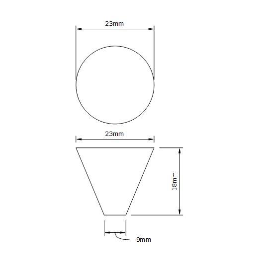 futurist drawer knob dimensions