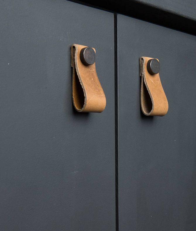 kitchen door handle magni tan & bronze