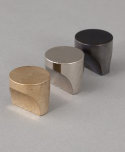 Abstract kitchen drawer knobs: metal knobs for cupboards, cabinets and drawers