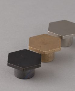 BAUHAUS kitchen drawer knobs in brass, bronze & silver