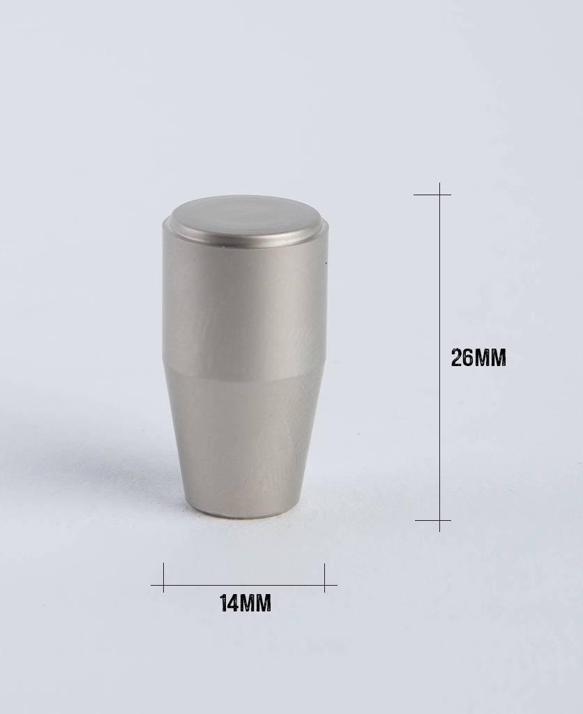 minimalist silver knob with dimensions