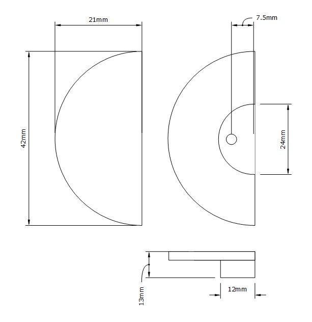 nouveau drawer knob dimensions