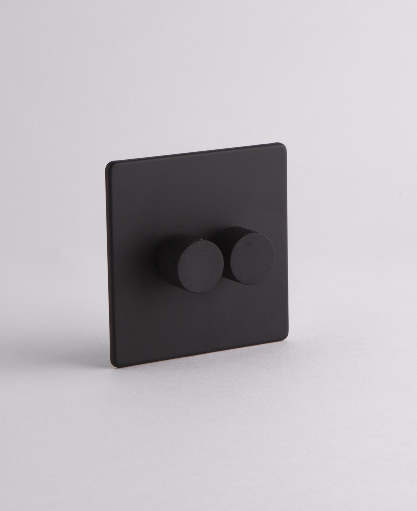 Designer Dimmer Switch Double Black Dimmer Switch