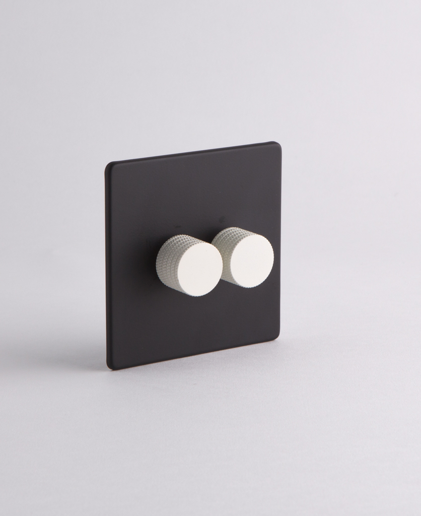 designer dimmer switch double black white dimmer switch. Black Bedroom Furniture Sets. Home Design Ideas