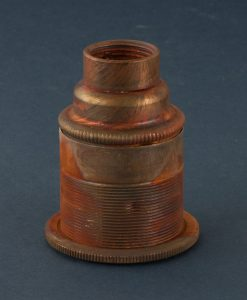 metal pipe bulb holder threaded tarnished copper e27